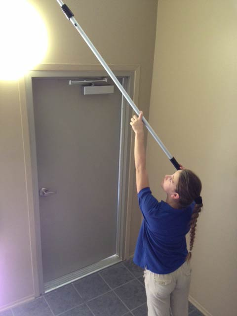 We clean ceilings and light fixtures
