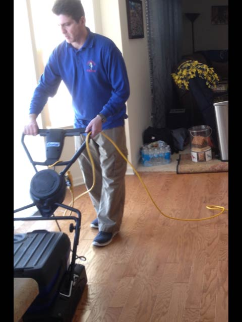 Wood floor cleaning in Plymouth